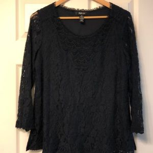 Style and co black lace top